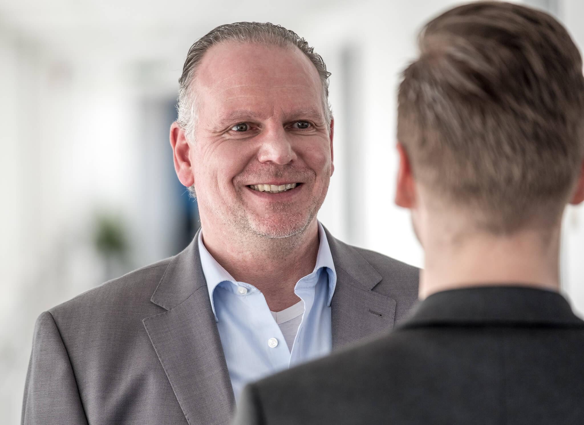 Martin Witte begrüßt Content-Seminar Teilnehmer in Münster