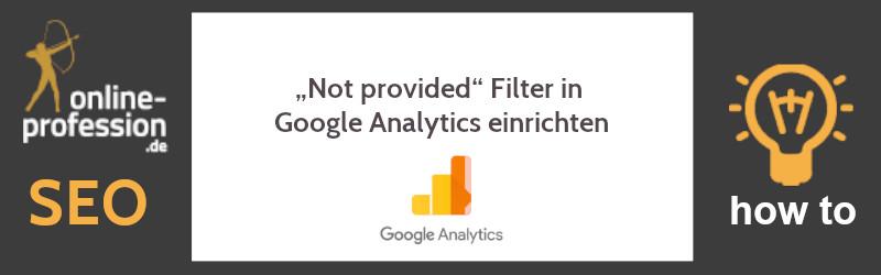 """""""Not provided"""" Filter in Google Analytics einrichten"""