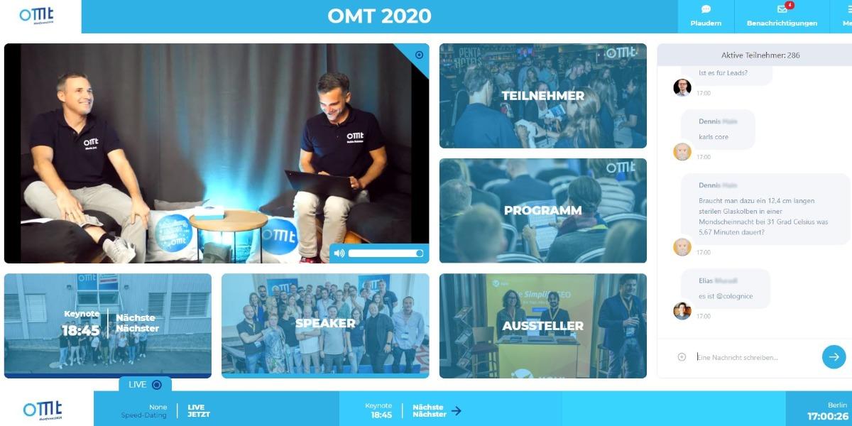 die Lobby beim OMT 2020