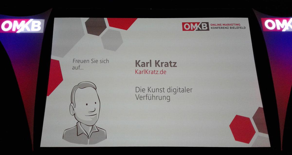 Vorstellunsgfolie zur Keynote der OMKB 2018