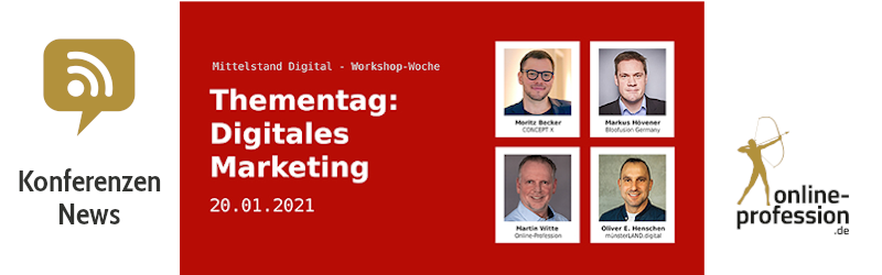 Einladung Thementag digitales Marketing Mittelstand 4.0