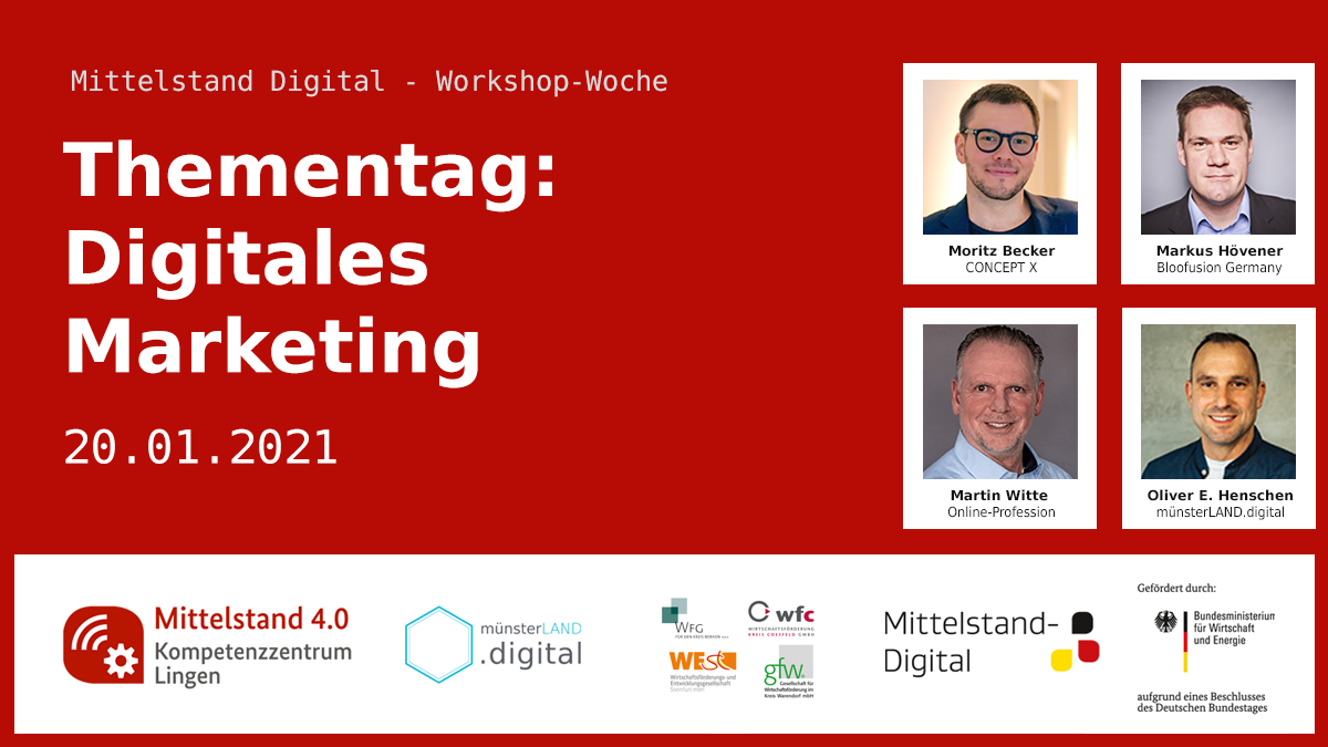 Thementag: Digitales Marketing 20.01.2021