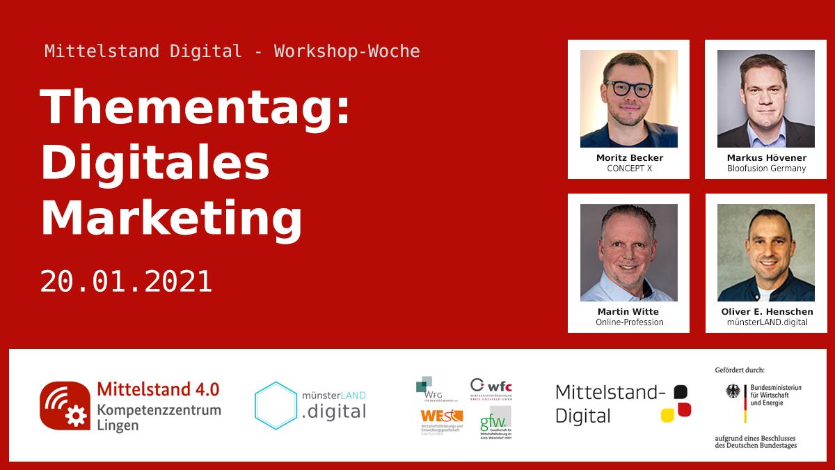 Thementag: Digitales Marketing 20.01.2021