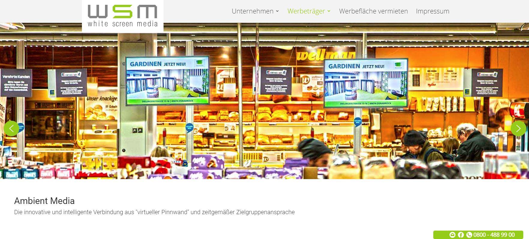 Die neue Webseite von White Screen Media