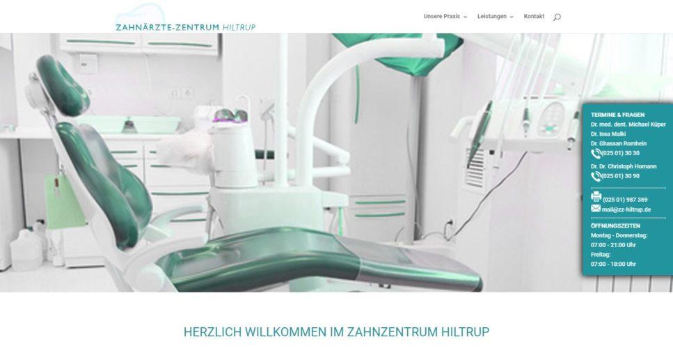 SEO für Zahnärzte beispiel: Zahnärztezentrum Hiltrup