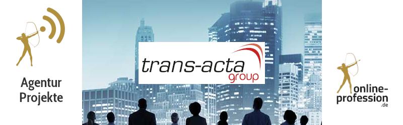 Transacta – Redesign der Webseite des Datenschutzexperten